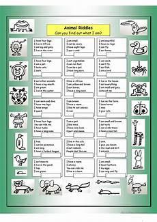 esl riddles worksheets 10892 animal riddles 1 easy worksheet free esl printable worksheets made by teachers