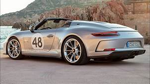 2019 Silver Porsche 911 Speedster  Lightweight Sports Car