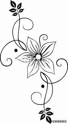 Malvorlagen Blumen Ranken Laden Sie Den Lizenzfreien Vektor Quot Blume Bl 252 Te Ranke