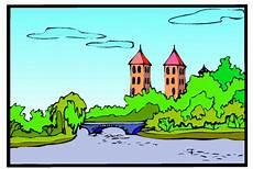 Malvorlagen Landschaften Gratis Landschaft Burg Ausmalbild Malvorlage Landschaften