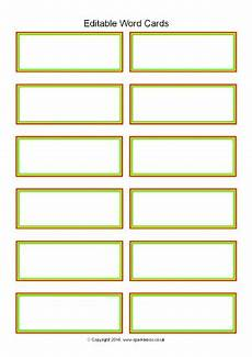 place card template word a4 editable primary classroom flash cards sparklebox