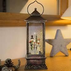 lanterne led bonhomme de neige remplie d eau luminaire fr