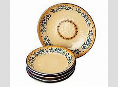 LidiaBastianich Hand Painted 5 piece Stoneware Pasta Bowl