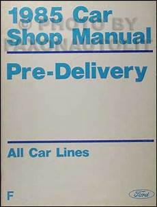 free car repair manuals 1985 lincoln town car engine control 1985 lincoln maintenance manual town car and mark vii and continental ebay