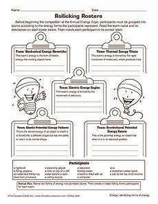 forms of energy worksheet science worksheets energy