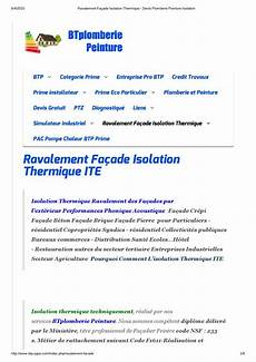 Ravalement Fa 231 Ade Isolation Thermique Devis Plomberie