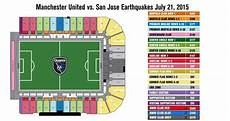 Stanford Stadium Seating Chart Earthquakes Seating Map San Jose Earthquakes Vs Manchester United