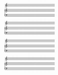 blank sheet music piano and treble voice