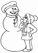 Coloring Pages Online Snowman