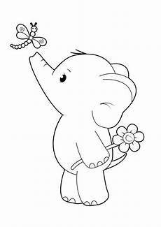 free easy to print elephant coloring pages tulamama