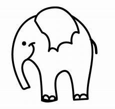 Einfache Malvorlage Elefant Ausmalbild Tiere Elefant Zum Ausmalen Kostenlos Ausdrucken