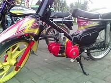 Modifikasi Motor Pitung by Modifikasi Honda C70 Airbrush Terbaru Modif Motor Pitung