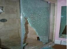 Bathroom Glass Door Shattered by Guest At Four Seasons Hotel Injured By Shattering Glass