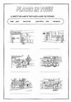 coloring pages places in town 18038 places in town esl worksheet by sandramendoza