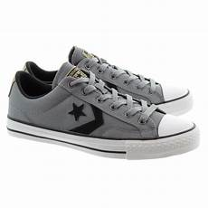 converse player ox lace shoes in grey in grey
