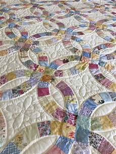 sale double wedding ring king size quilted by amish quilters floral