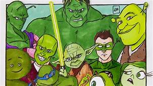 Famous Characters Are Sorted By Colors In These Fun Fan