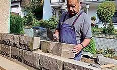 Anleitung Natursteinmauer Bauen Selbst De