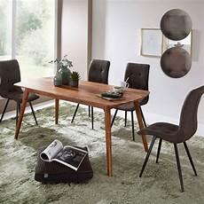Esszimmertisch Mit Stühlen - esszimmertisch mit 4 st 252 hlen sheesham massiv holz esstisch
