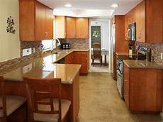 galley kitchen with island layout galley kitchen layout with peninsula serveware microwaves