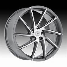 wheels hawk platinum 433 hawk machined satin graphite custom wheels