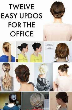easy hairstyles for the office 12 easy office updos buns chignons more for busy for professionals
