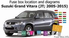 fuse box on suzuki fuse box location and diagrams suzuki grand vitara jt 2005 2015