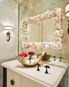decorative bathroom ideas contemporary metallic bathroom with seashell mirror hgtv