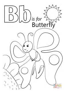 color the letter b worksheets 24028 letter b is for butterfly coloring page free printable coloring pages
