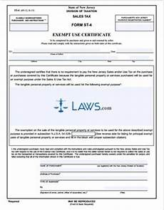 form st 4 exempt use certificate tax exemptions forms laws com