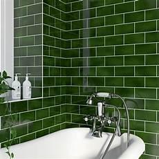 Bathroom Tile Glaze va puddle glaze racing green plain field 152mm x 76mm