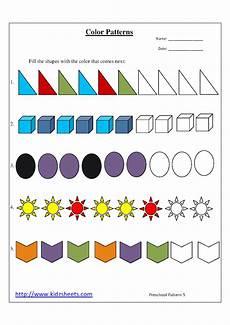 color patterns worksheets 53 kidz worksheets preschool color patterns worksheet5
