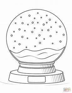 malvorlagen schneekugel in 2020 malvorlagen schneekugel