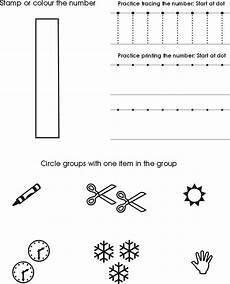 number one worksheet free preschool printable numbers
