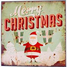 retro merry christmas metal holiday sign gifts 64001 craftoutlet com