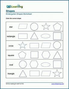 identifying 2 dimensional shapes worksheets k5 learning