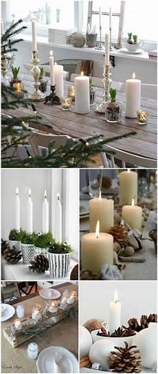 decorare le candele per natale natale in tavola idee fai da te segnaposti centrotavola e
