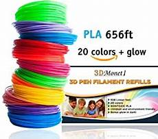 Amazon Com 3d Pen Filament Amazon Com 3d Pen Filament Refills Pla 656 Feet 20
