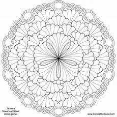 mandala flower coloring pages difficult 17895 january birthstone and flower mandala mandalas para colorir figuras para colorir e imagens