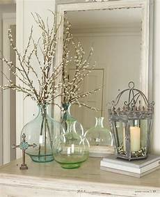 Home Decor Ideas With Vases by Green And Blue Glass Vases Decorative Details Home