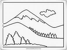 Mewarnai Gambar Gunung Mewarnai Gambar
