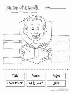 parts of a book kindergarten worksheet parts of a book tim s printables