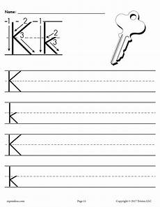 free letter k worksheets for preschool 24376 printable letter k handwriting worksheet supplyme
