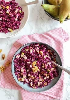 Rotkohl Birnen Salat Mit Waln 252 Ssen Rezept Rotkohl