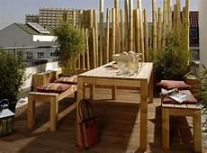 Balkon Sichtschutz Ideen - sichtschutz balkon videx balkonentwurf bambus balkon