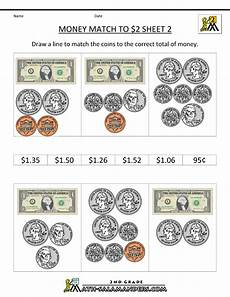 money division worksheets 2114 money worksheets for 2nd grade math money worksheets money match to 2 dollars 2 money