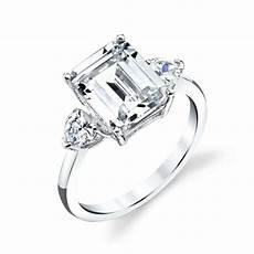 925 sterling silver engagement wedding ring emerald cut modern contemporary cz ebay