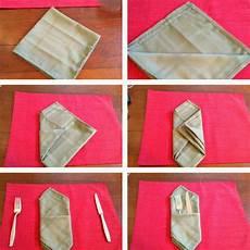 bestecktasche falten anleitung servietten falten einfach und wirkungsvoll zu weihnachten