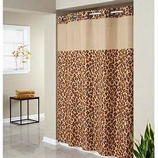 hookless mystery shower curtain hookless leopard print mystery polyester shower curtain