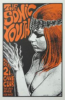 frank kozik the sonic youth original concert poster band